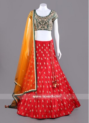 Three Tone Embroidered Choli Set