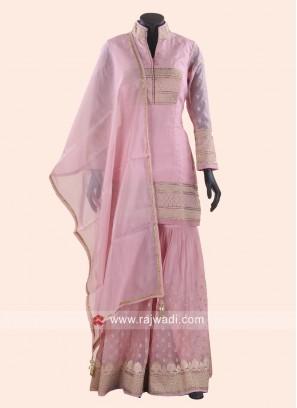 Tissue Silk Gharara Salwar Kameez