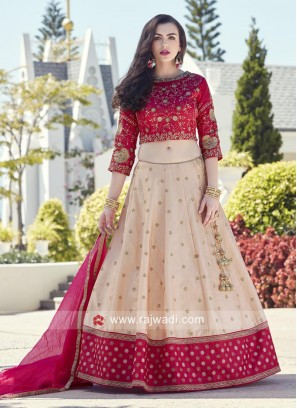 Tora Tora Silk Embroidered Lehenga Set