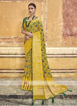 Traditinal Yellow Color Saree