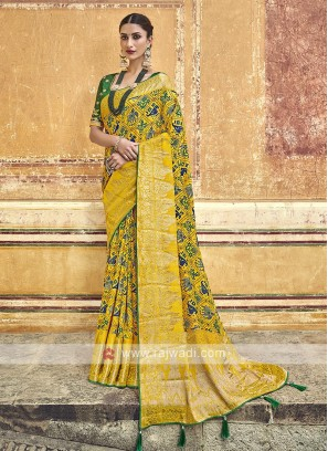 Traditinal Yellow Color Saree