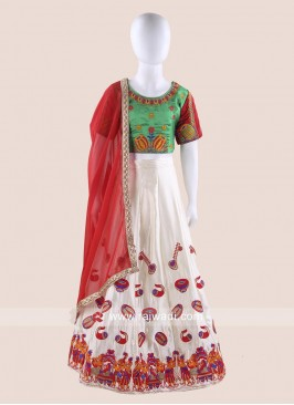 Traditional Art Satin Silk Chaniya Choli