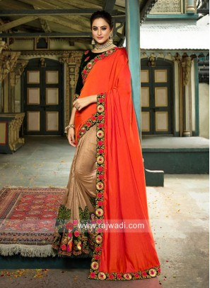 Traditional Art Silk Half n Half Saree