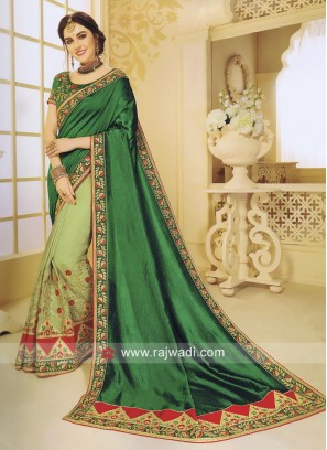 Traditional Art Silk Half Saree with Blouse