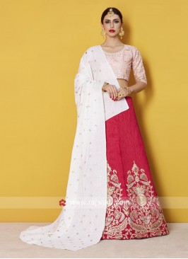 Traditional Art Silk Lehenga Set