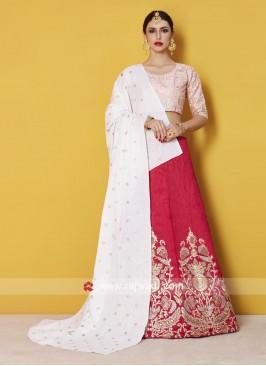 Traditional Art Silk Lehenga Set