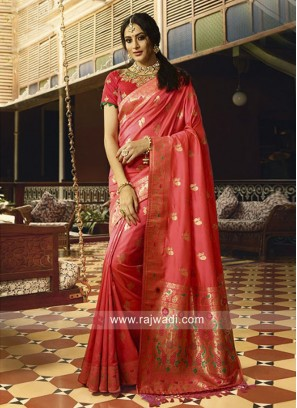 Traditional Banarasi Silk Wedding Saree