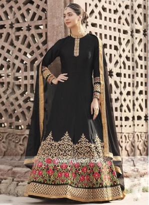 Traditional Black Embroidered Salwar Kameez