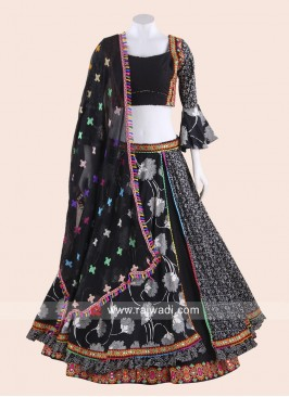 Traditional Black Navratri Chaniya Choli