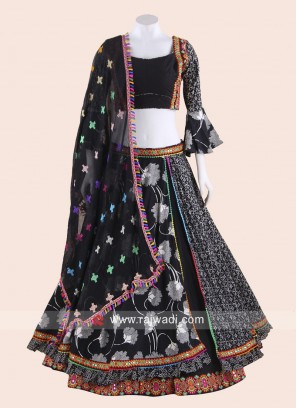 Traditional Black Navratri Chaniya Choli