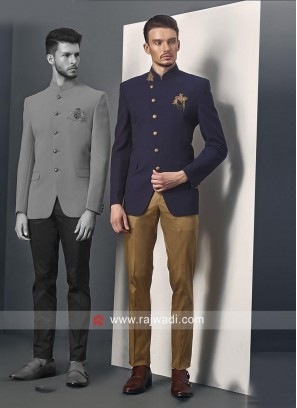 Traditional Blue Jodhpuri Suit