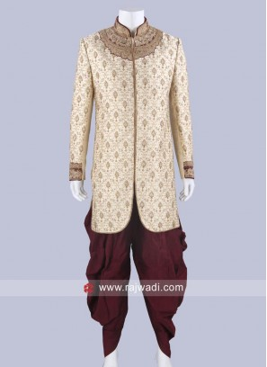 Traditional Brocade Silk Indo Western Sherwani