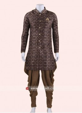 Traditional Brown Color Indo Western