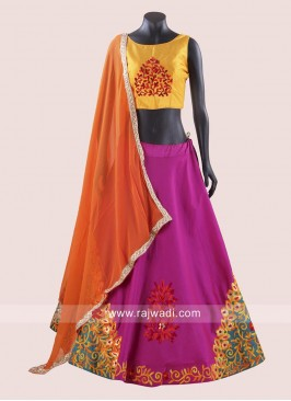 Traditional Chaniya Choli with Chiffon Dupatta