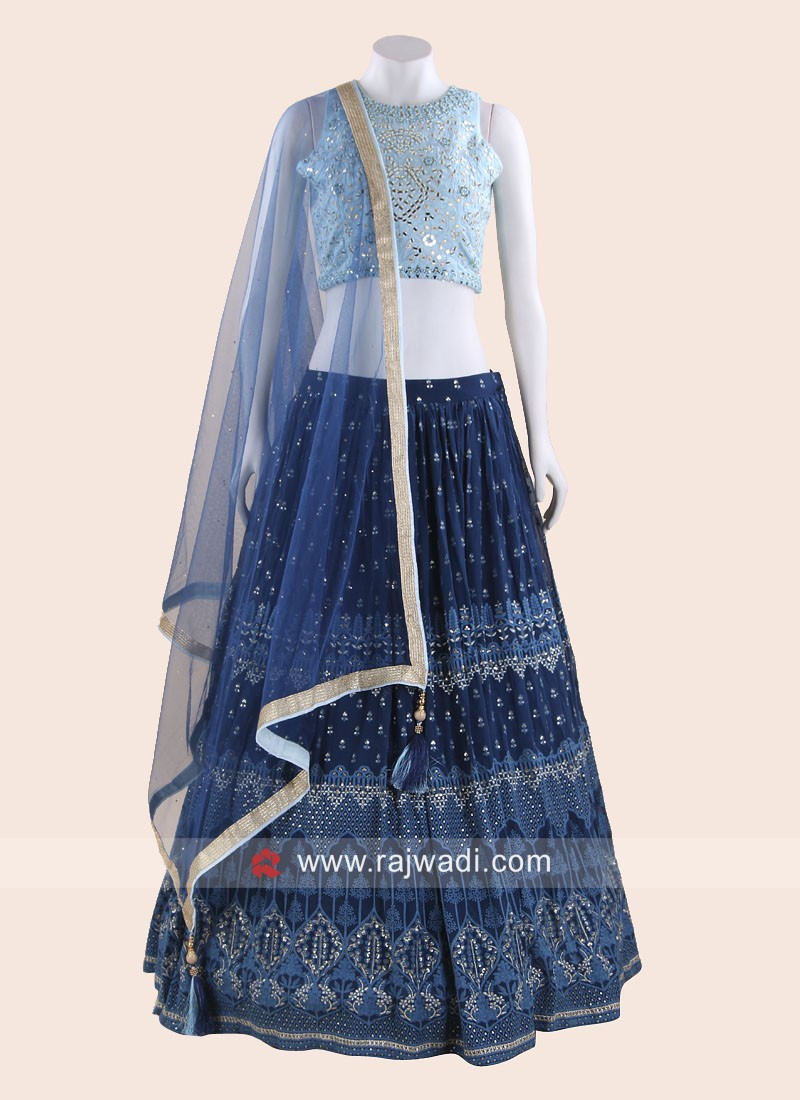 Traditional Choli Suit in Blue