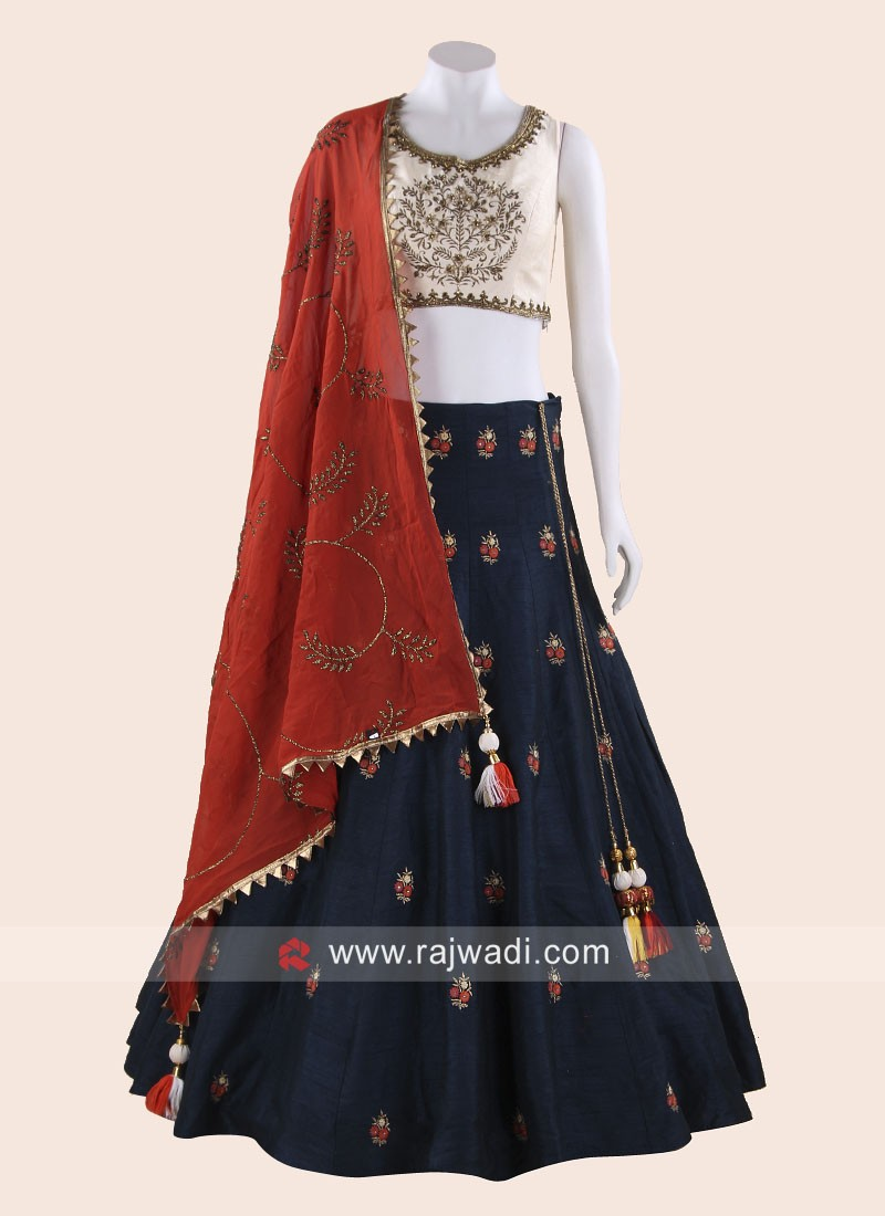 Traditional Choli Suit with Dupatta