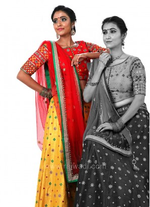 Traditional Choli Suit with Embroidery Work