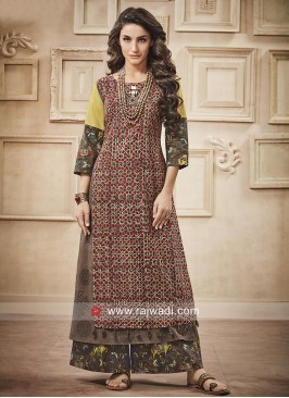 Traditional Cotton Palazzo Suit