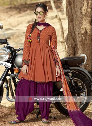 Traditional Cotton Patiala Suit