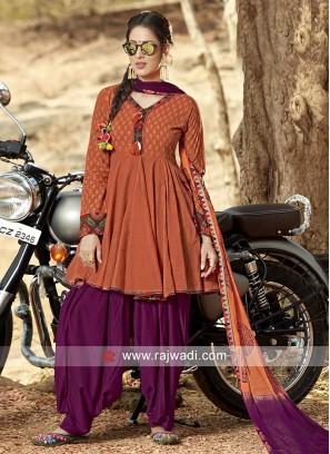Traditional Cotton Patiala Suit