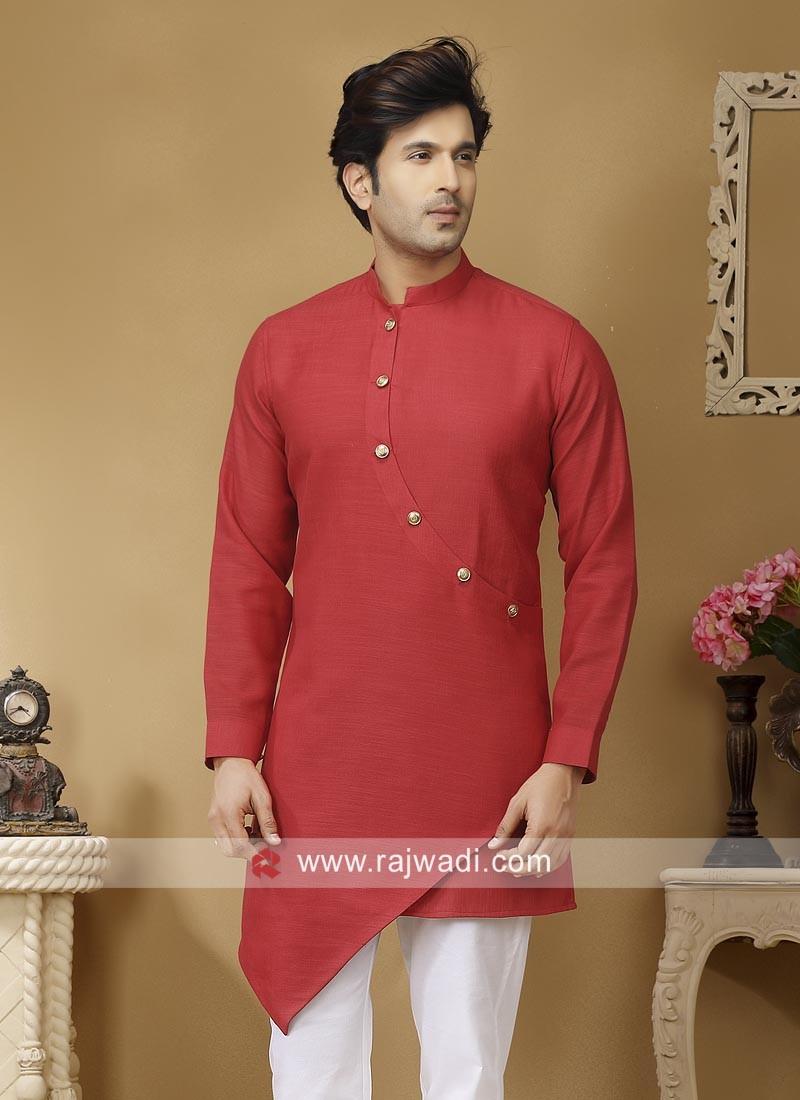 Traditional Linen Fabric Kurta