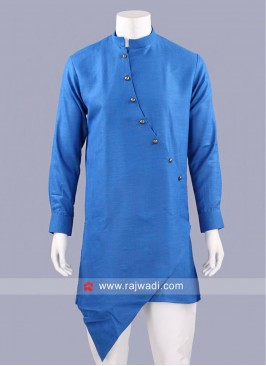 Traditional Cotton Silk Fabric Kurta