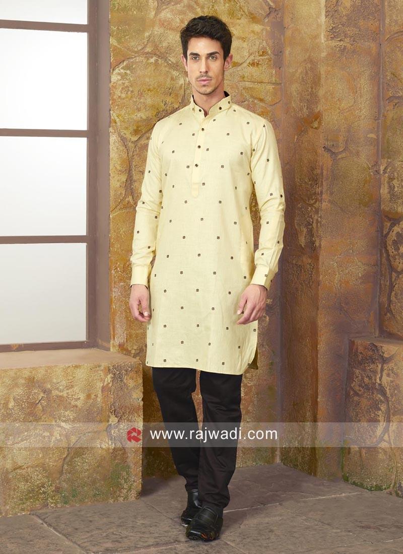 Traditional Cotton Silk Kurta Set