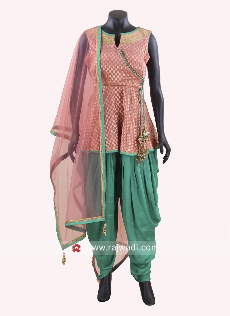 Traditional Dhoti Style Suit