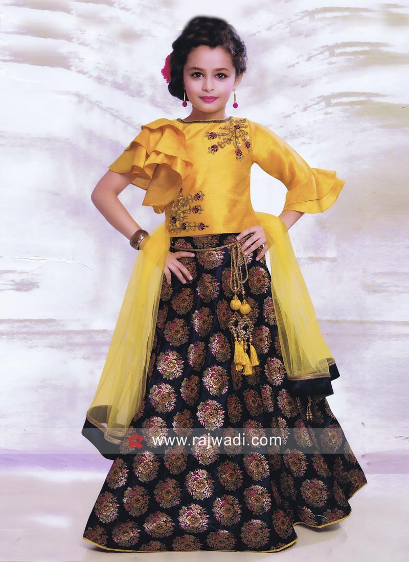 Traditional Embroidered Choli Suit for Kids