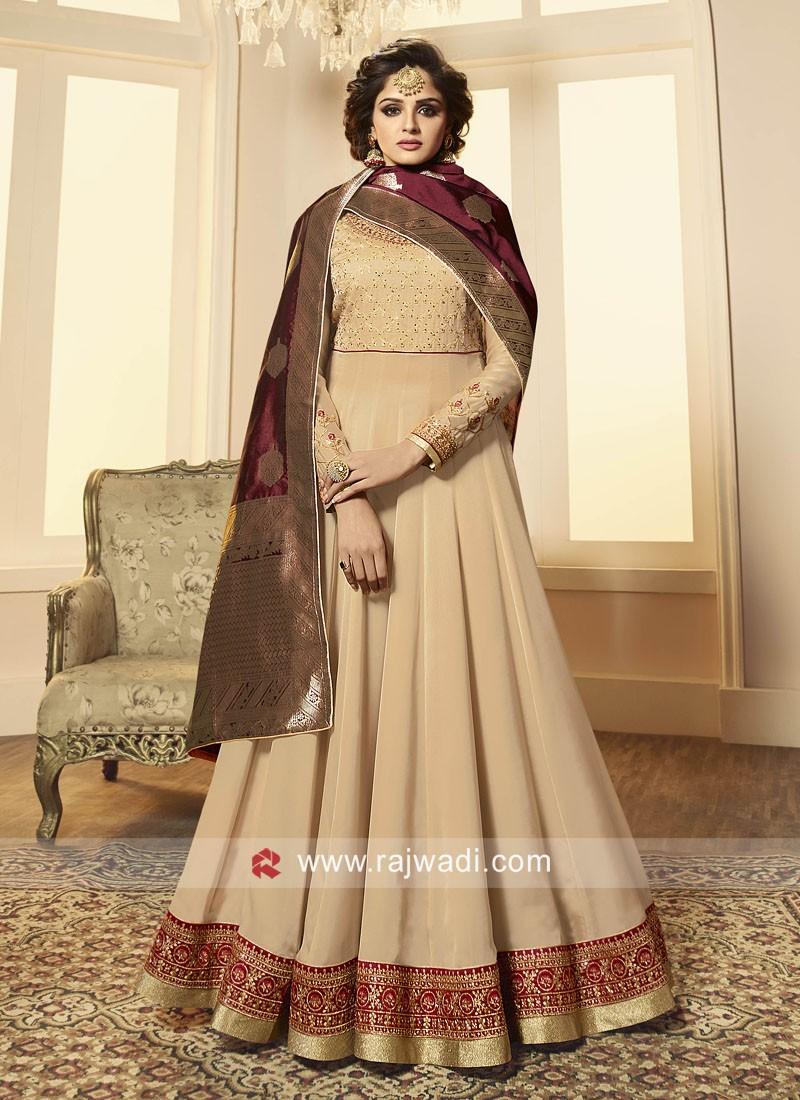 Traditional Floor Length Anarkali Suit