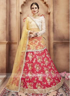 Traditional Flower Work Lehenga Choli