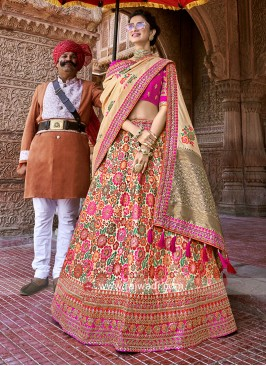 Traditional Flower Work Lehenga Set