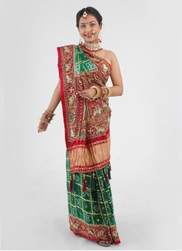 Traditional Gharchola Saree For Bride