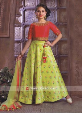 Traditional Girls Choli Suit