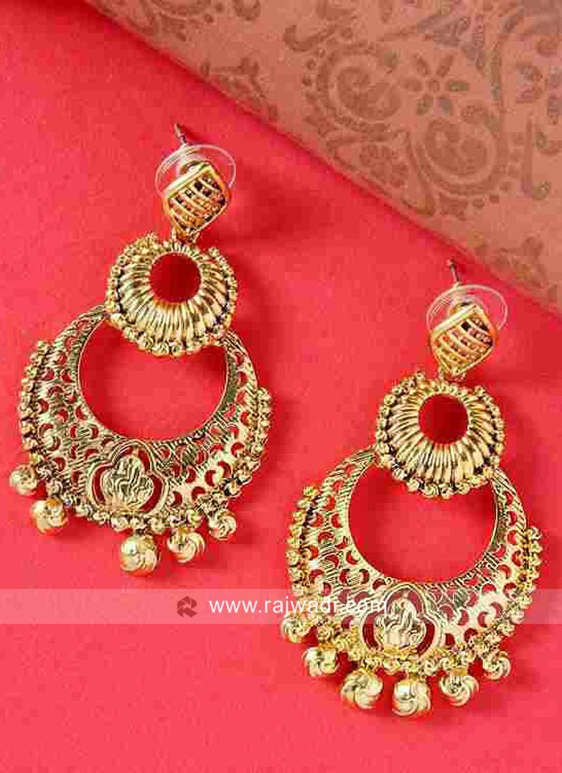 Traditional Gold Plated Chandbali Earrings