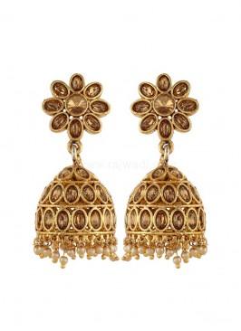 Traditional Golden Jhumki Earrings
