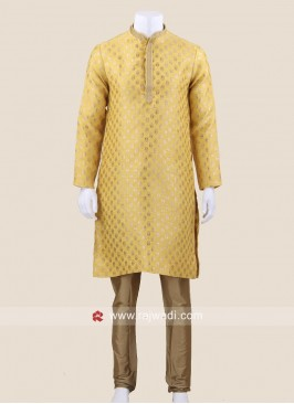 Traditional Golden Yellow Kurta Pajama