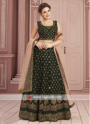 Traditional Green Readymade Choli Set