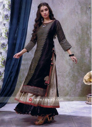Traditional Layered Kurti with Broach