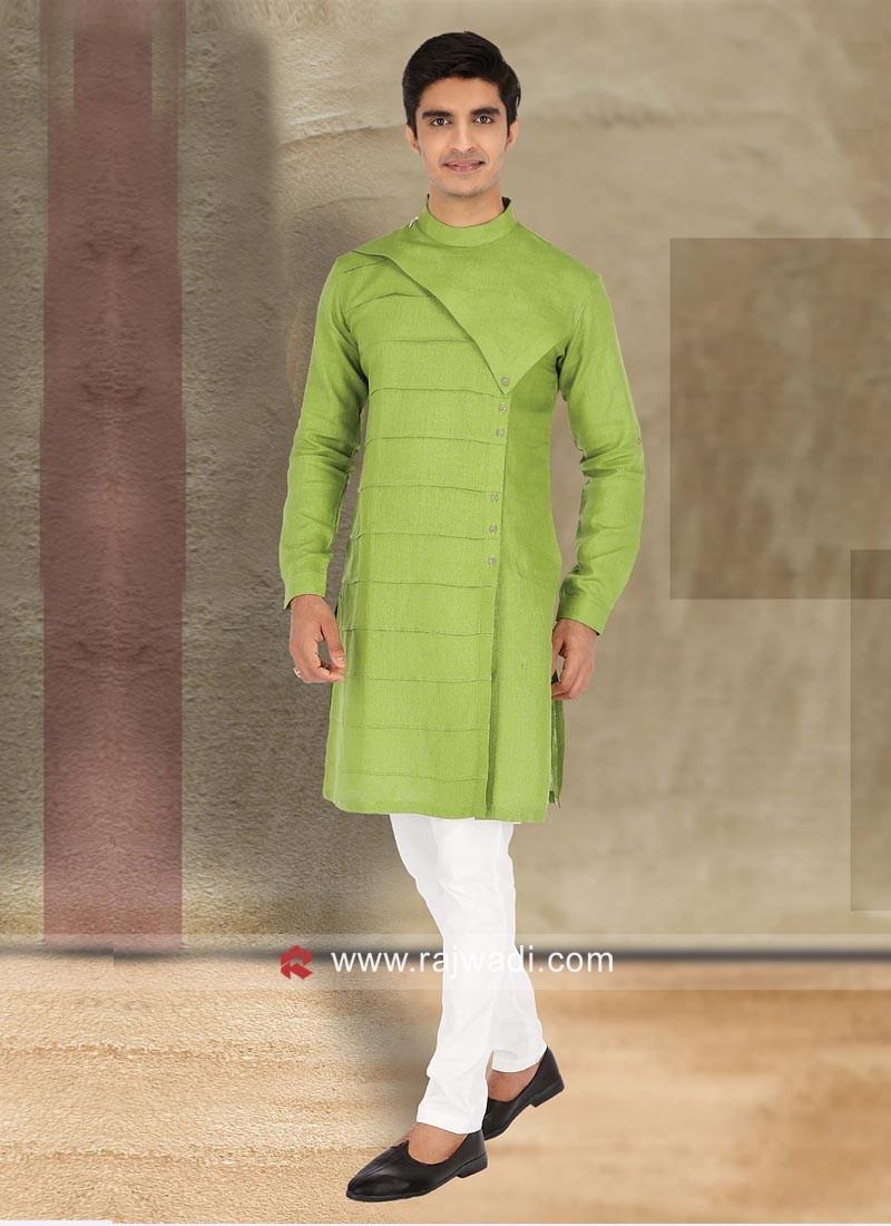 Traditional Linen Kurta Pajama