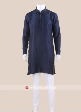 Traditional Linen Kurta Set