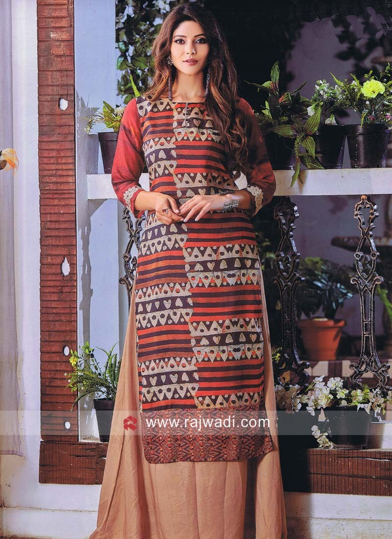 Traditional Long Printed Kurti
