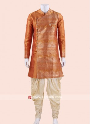 Traditional Mango Color Indo Western