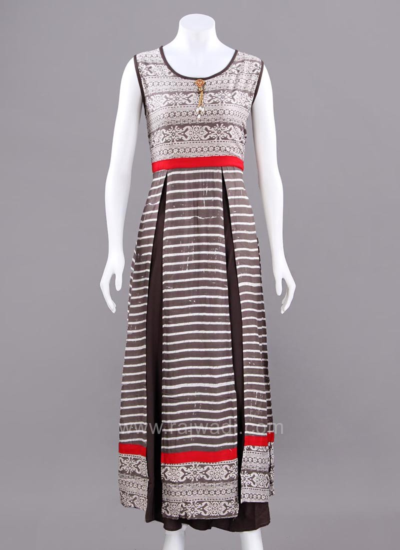Traditional Multi Slit Long Kurti