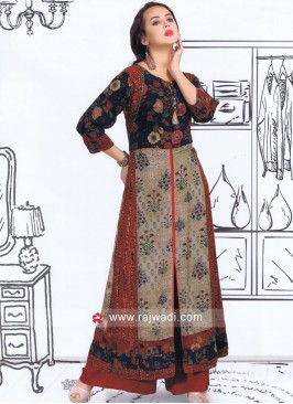Traditional Multicolor Long Kurti