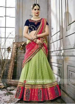 Traditional Net and Silk Lehenga Choli