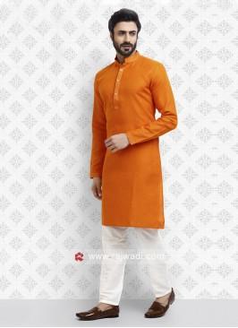 Traditional Orange Kurta Pajama