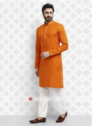 Traditional Orange Kurta Pajama