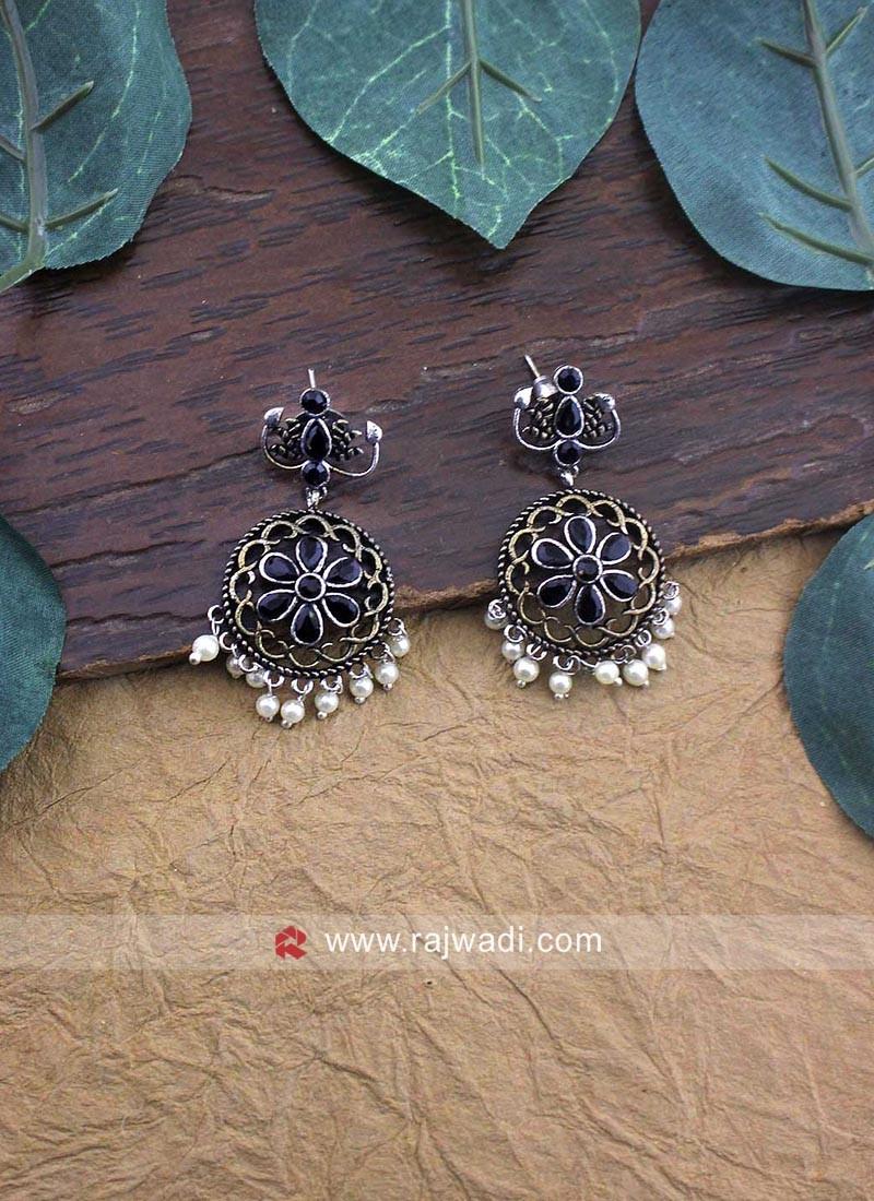 Traditional Oxidize Jhumka Earrings