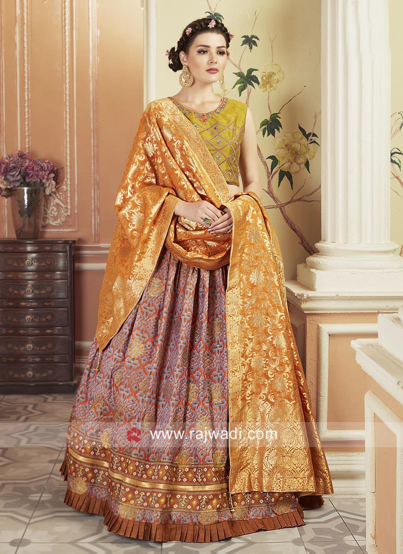 Traditional Patola Printed Choli Suit with Dupatta